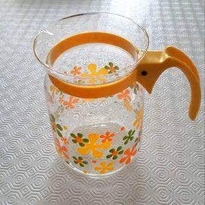 Vintage glass flower pitcher